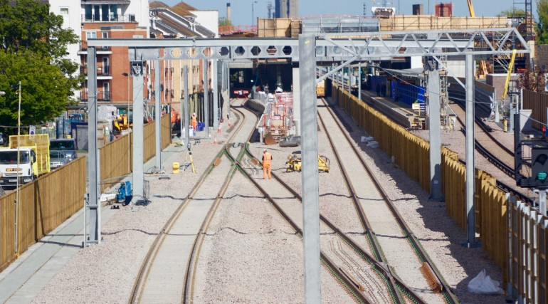 Tracks for Elizabeth line services at Abbey Wood complete_268426