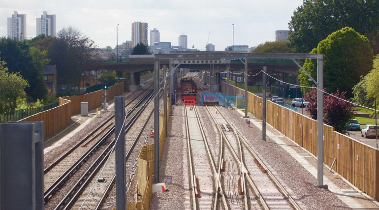 Tracks for Elizabeth line services at Abbey Wood complete_268438