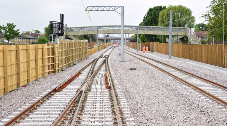 Tracks for Elizabeth line services at Abbey Wood complete_269181