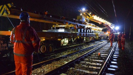 Major Crossrail works successfully delivered by Network Rail over Easter