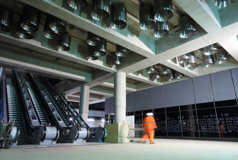 New images highlight latest progress as construction of Elizabeth line enters final stages