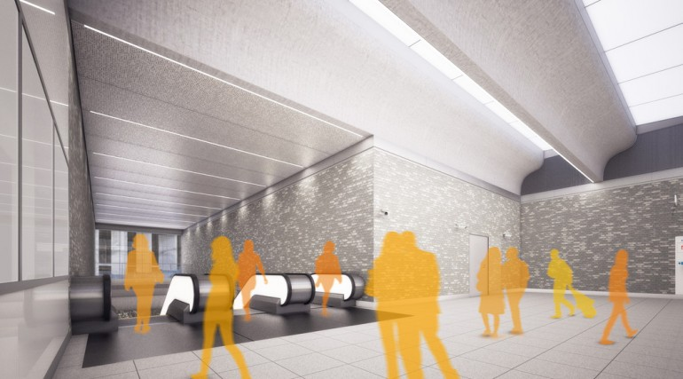Woolwich Station - architects impression image of Crossrail station_147931